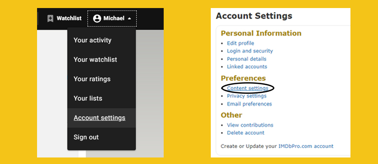 Get IMDb to Show the Old Layout With All Cast and Crew Members - Settings